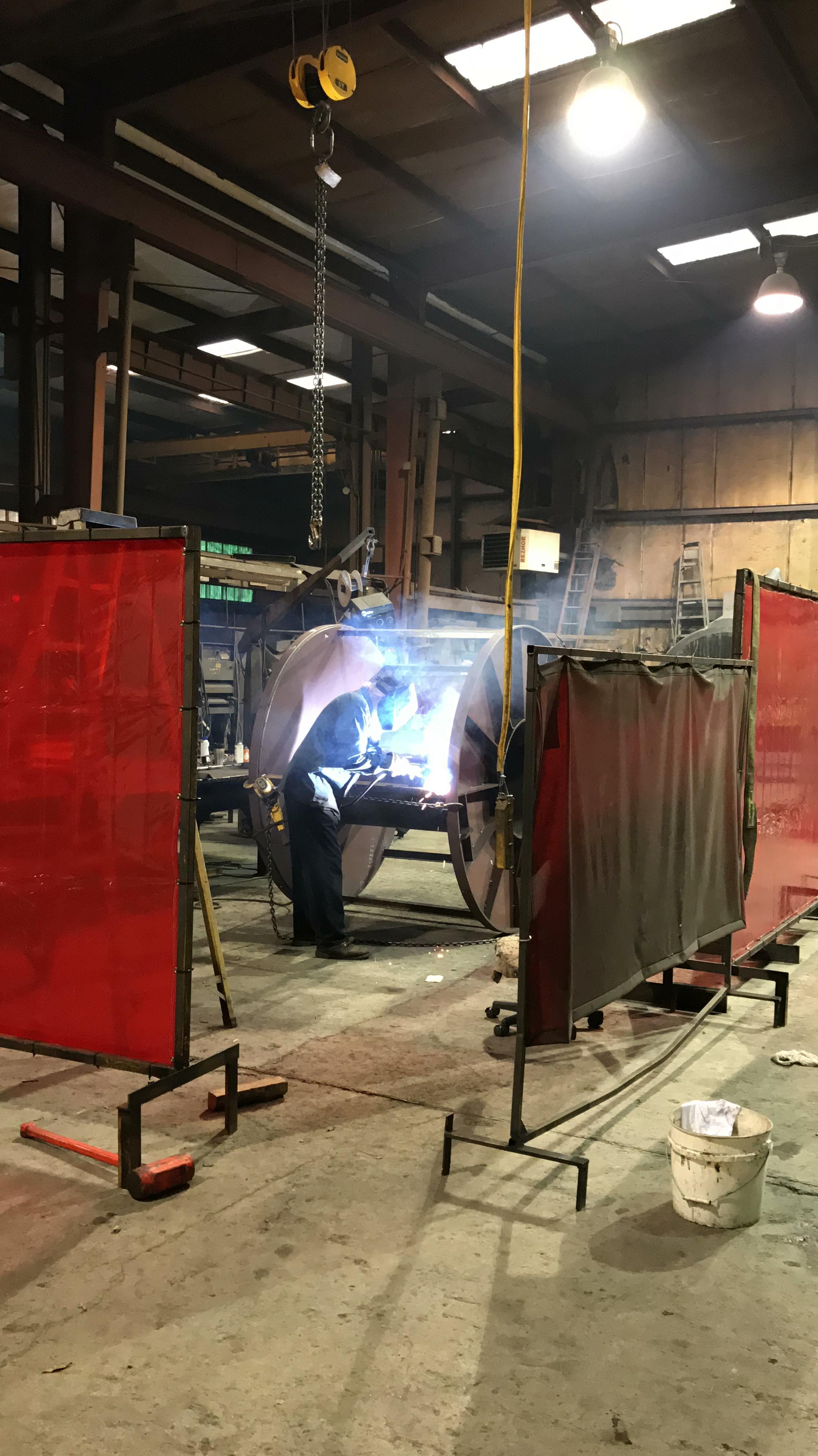 machine and welding